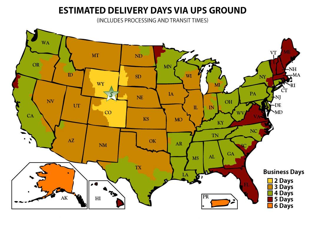 UPSDeliveryMapjpg - Us postal service transit map