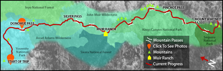 John Muir Map