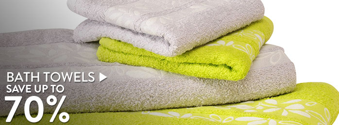 Bath towels - Save up to 70%