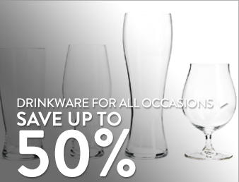 Drinkware for all Occasions - save up to 55%