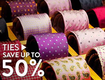 Ties  - save up to 50%