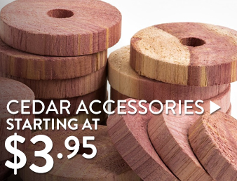 Cedar Accessories - starting at $3.95
