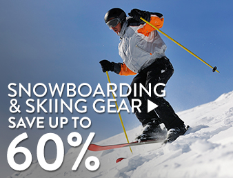 Skiing & snowboarding gear - save up to 60%