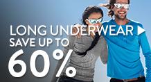 long underwear - starting at 60%