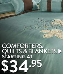 Comforters, Quilts & Blankets - Starting at $34.95