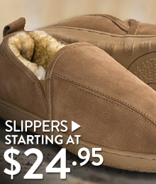 Slippers - Starting at $24.95
