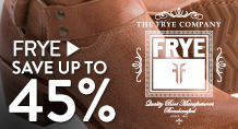Frye - save up to 45%