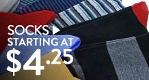 Socks - starting at $4.25
