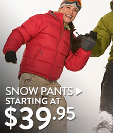 Snow Pants - starting at $39.95