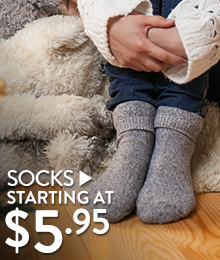 Socks - starting at $5.95