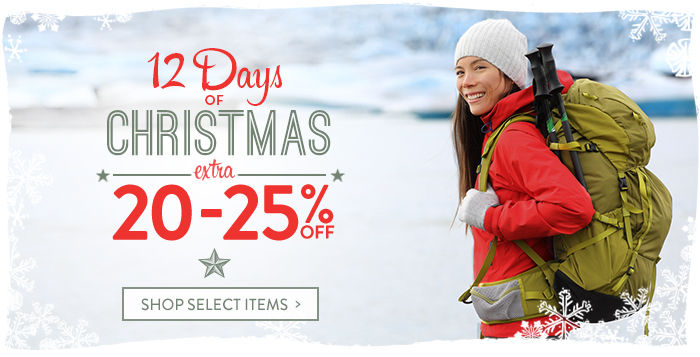 12 Days of Christmas: extra 20-25% off select items