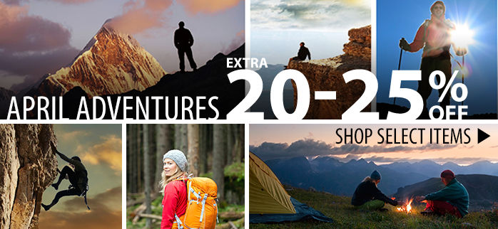 April Adventures – extra 20-25% off