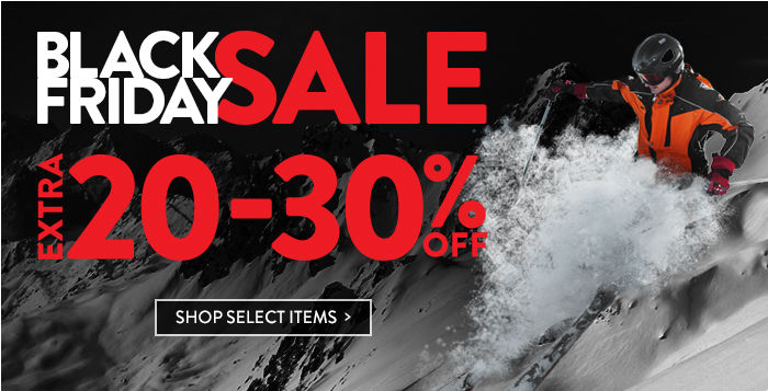 Black Friday Sale: extra 20-30% off select items