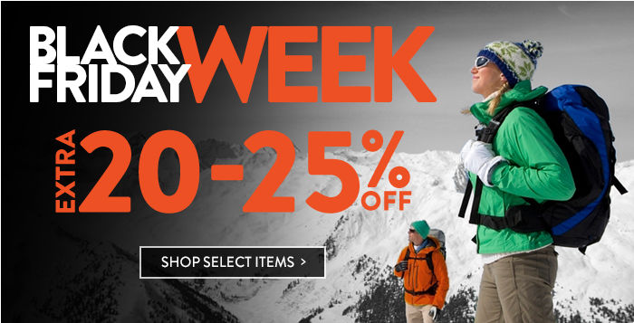 Black Friday Week: extra 20-25% off select items