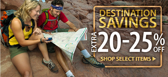 Destination Savings! Extra 20-25% off select items