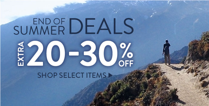 End of Summer: Extra 20-30% off select items