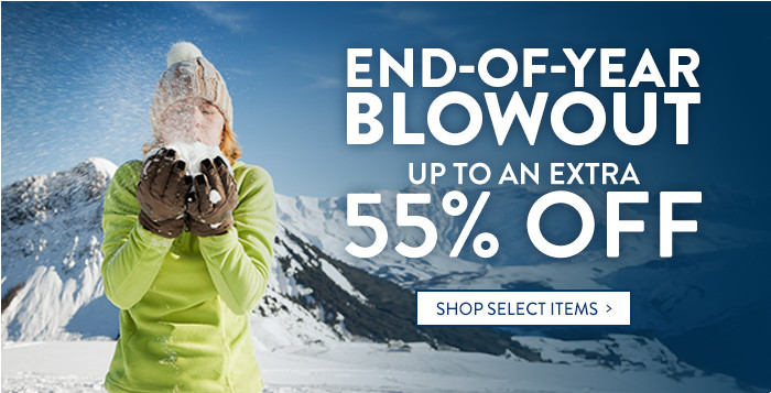 End-of-Year Blowout: up to an extra 55% off select items
