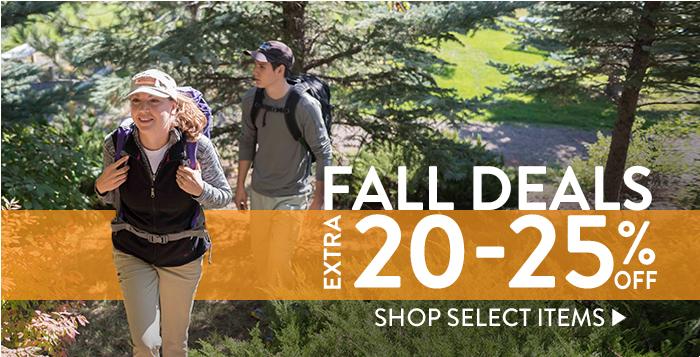 Fall Deals:  Extra 20-25% Off