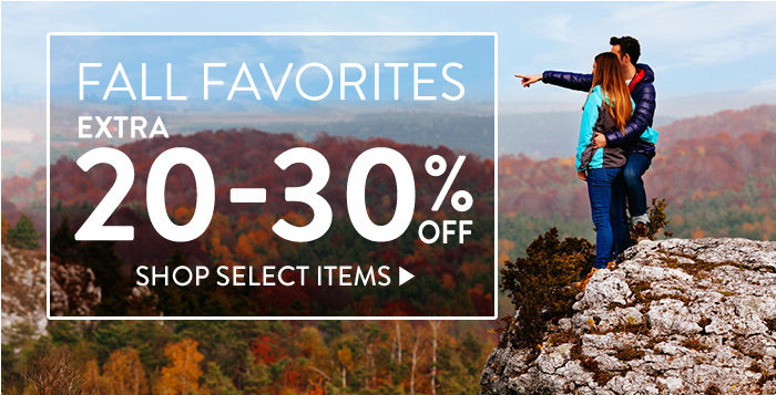 Fall Favorites: Extra 20-30% off select items