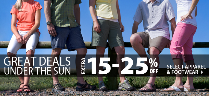 Great Deals Under the Sun! An extra 15-25% off select items!