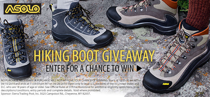 Hiking Boot Giveaway