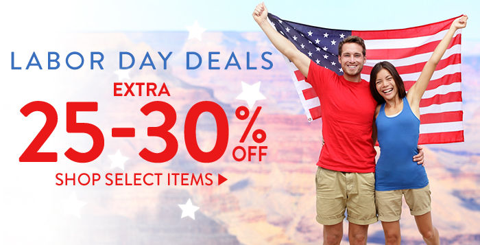 Labor Day Deals: Extra 25-30% off select items