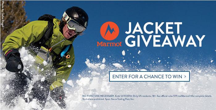 Marmot Jacket Giveaway