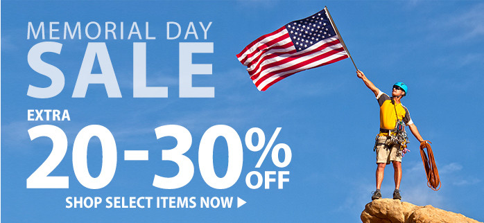 Memorial Day – extra 20-30% off
