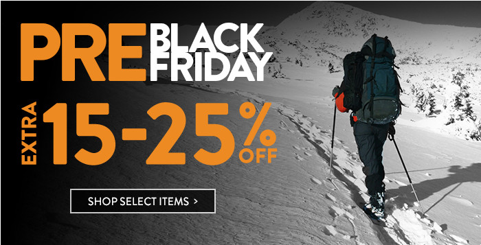 Pre-Black Friday: extra 15-25% off select items