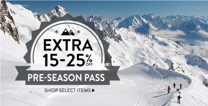 Pre-Season Pass: extra 15-25% off select items