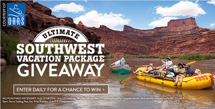 Southwest Vacation Giveaway