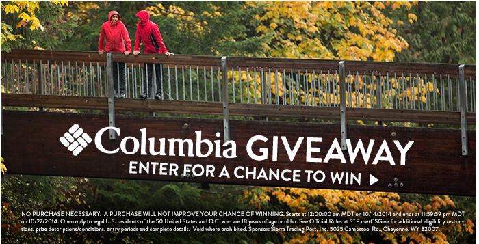 Giveaway - Columbia Sportswear