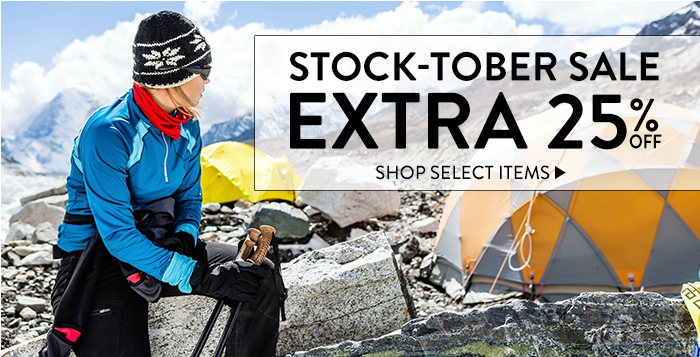 Stock-tober Sale:  Extra 25% Off