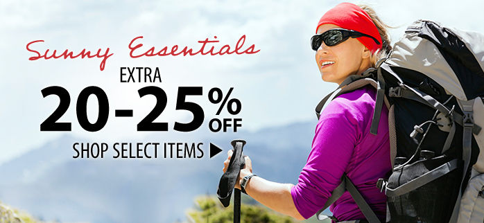 Sunny Essentials:  Extra 20-25% Off