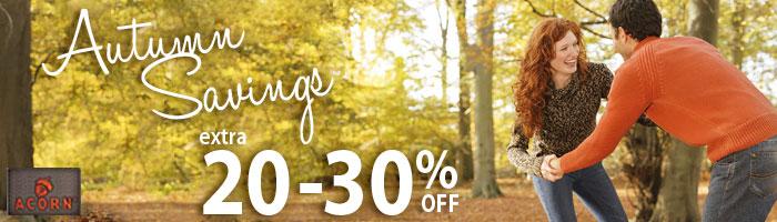 Autumn Savings! Extra 20-30% off!