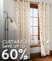 Curtains & Drapes - save up to 60%