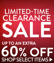 Clearance Sale - up to an extra 60% off select items