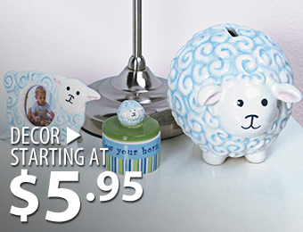Décor – starting at $5.95
