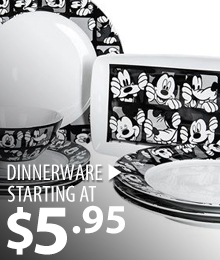 Dinnerware – starting at $5.95