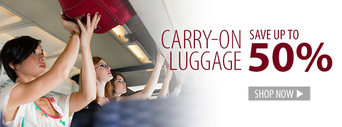 Carry On Luggage – save up to 50%