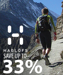 Haglofs – save up to 33%
