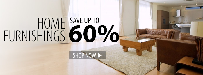 Save up to 60% on home furnishings