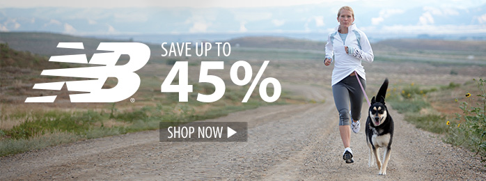 Save up to 45% on New Balance