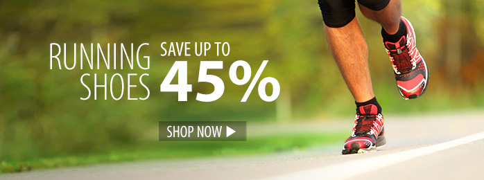 Save up to 45% on running shoes