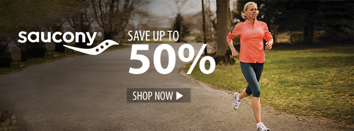 Save up to 50% on Saucony