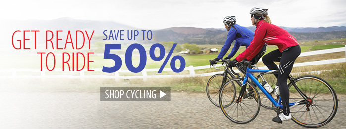 Get ready to ride - save up to 50% on cycling!