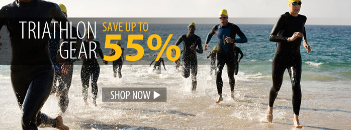 Save up to 55% on Triathlon Gear