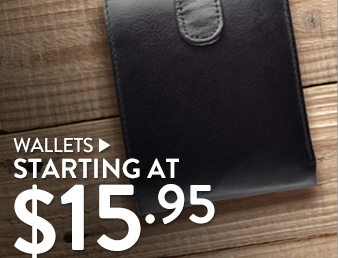 Wallets - starting at $15.50