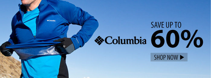 save up to 60% on Columbia