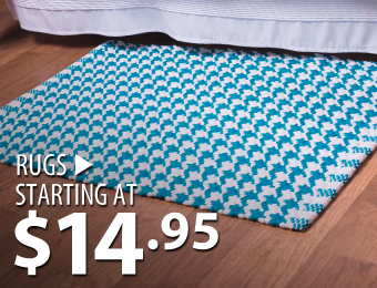 Rugs – starting at $14.95